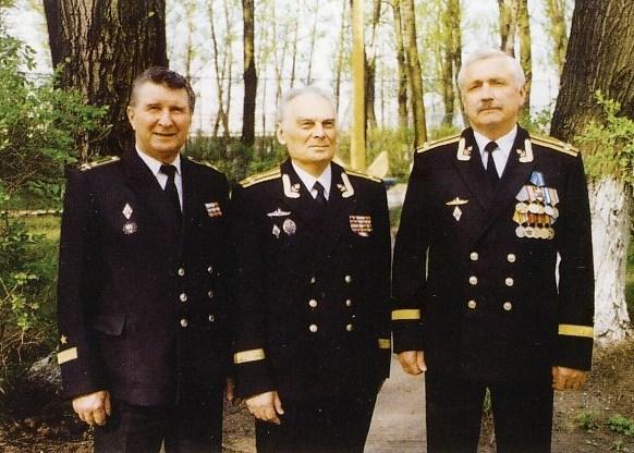 Начальники кафедры: капитаны 1 ранга В.А. Гетьман, Л.С.3ыков, А.А. Грязнов