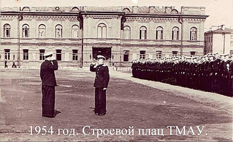 Построение училища, 1954 г.